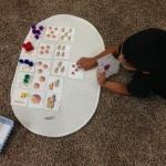 playing kid learning numbers